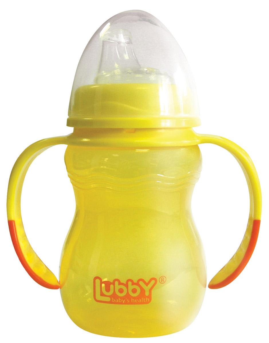 Lubby Поильник-непроливайка Классика от 6 месяцев цвет желтый 250 мл -  Поильники