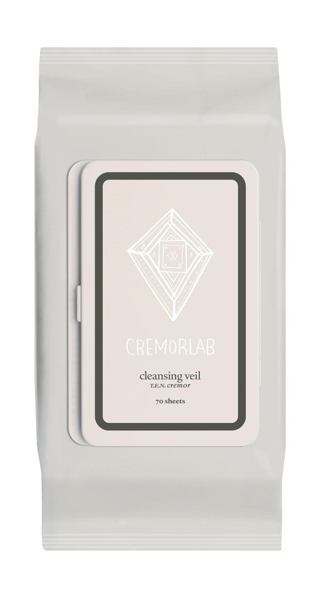 """Cremorlab T.E.N. Cremor Салфетки для снятия макияжа """"Cleansing Veil"""", 70 шт"""