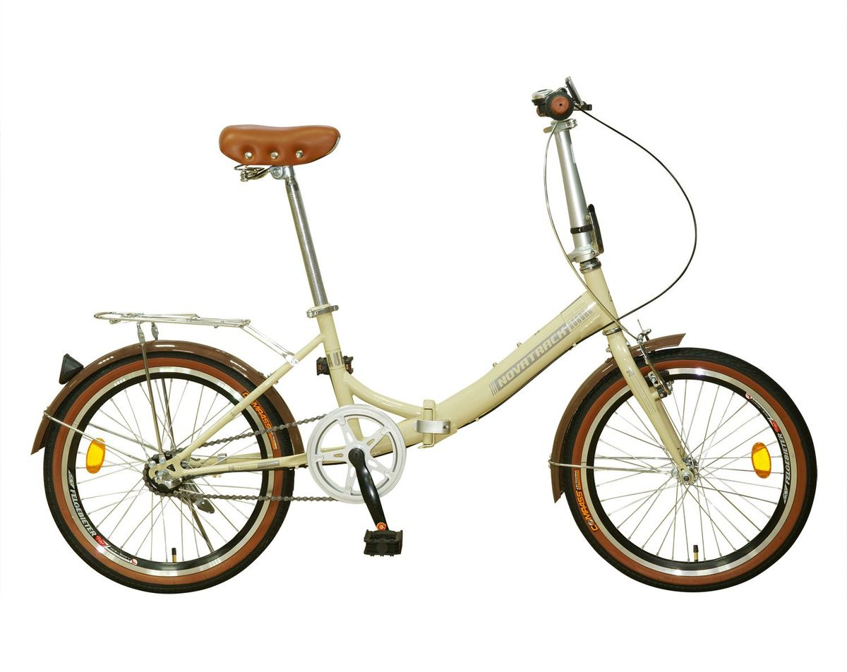 Велосипед складной Novatrack Aurora Nexus 20, цвет: бежевый