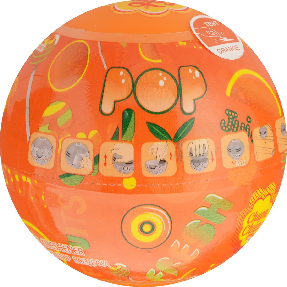 Ароматизатор воздуха Autoprofi Chupa Chups, с ароматом апельсина, на панель приборов, гелевый, 100 мл ароматизатор воздуха chupa chups ваниль подвесной флакон 5 мл