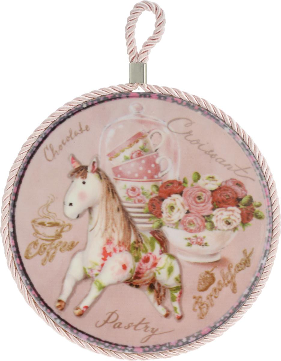 Подставка под горячее Besko Винтажная лошадка, диаметр 16 см тарелка декоративная besko винтажная лошадка диаметр 18 см