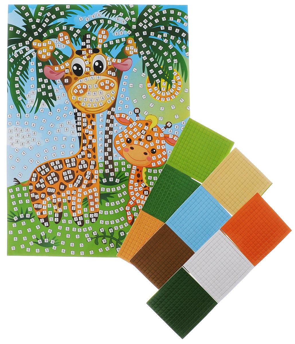 Рыжий Кот Мозаика мягкая Жирафы пазлы апплика мозаика мягкая алфавит английский из самоклеящегося мягкого пластика eva