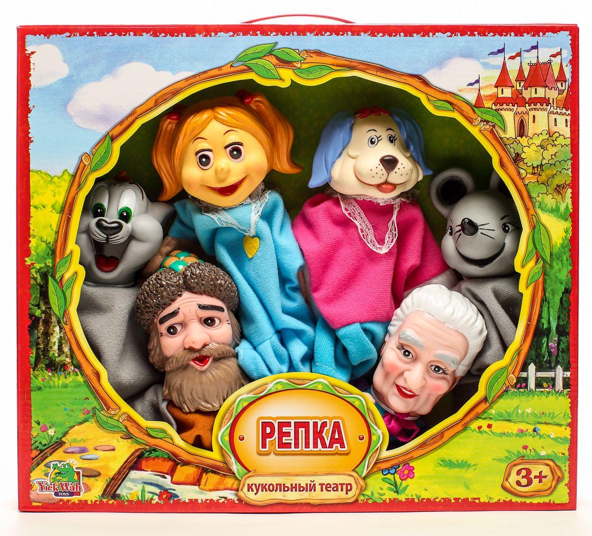 Yick Wah Кукольный театр Репка vladi toys магнитный кукольный театр репка