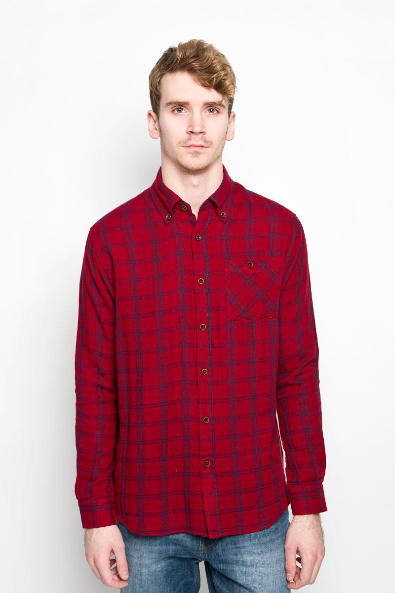 Купить Рубашка мужская Lee Cooper, цвет: красный, синий. M19001_0121. Размер M (46)