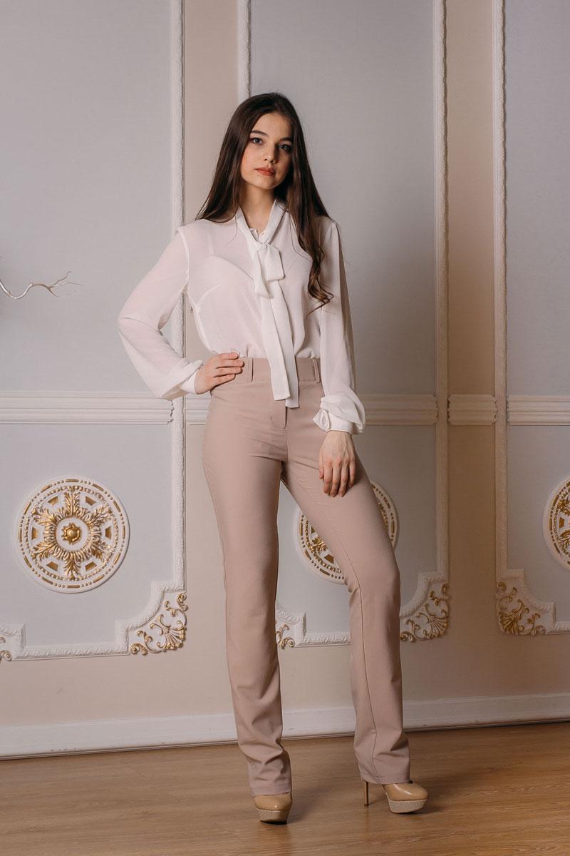 Брюки женские Lautus, цвет: светло-бежевый. б027. Размер 52 женские брюки pants 2015 zd44500