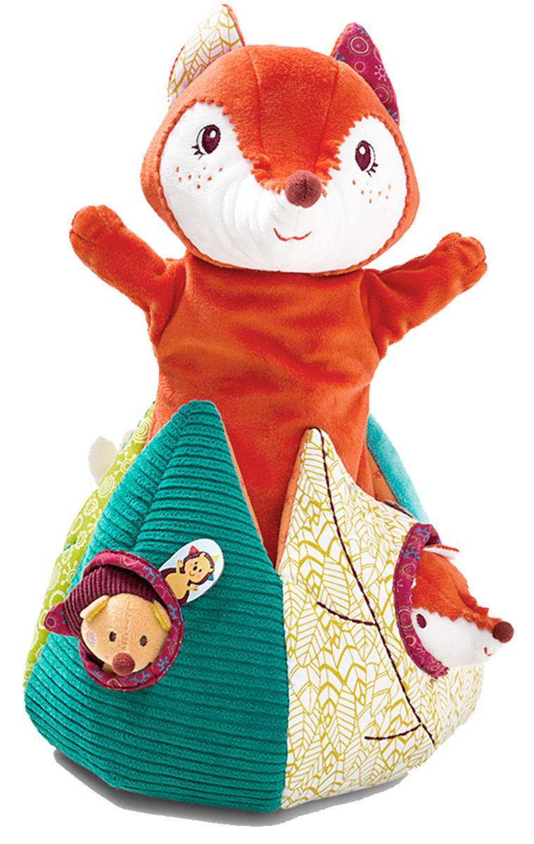 Lilliputiens Кукольный театр Лиса Алиса и ее друзья lilliputiens курочка офелия музыкальная игрушка