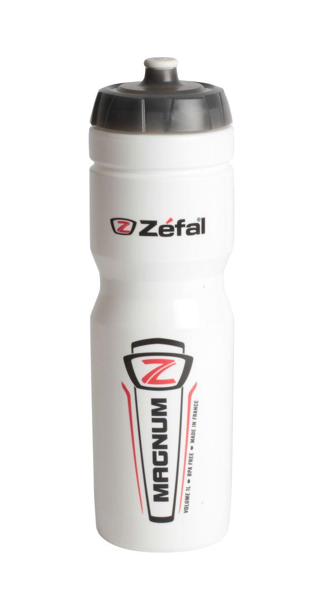 Фляга велосипедная Zefal Magnum, цвет: белый, 1 л. 164С фляга велосипедная zefal premier 60 цвет синий белый 600 мл