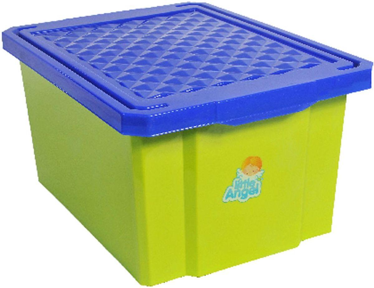 Little Angel Детский ящик для хранения игрушек 17 л цвет фисташковыйLA1017GRВ нашем ящике можно разместить все, что угодно: детские игрушки или одежду. При необходимости его можно убрать под кровать или дополнить им интерьер детской комнаты.