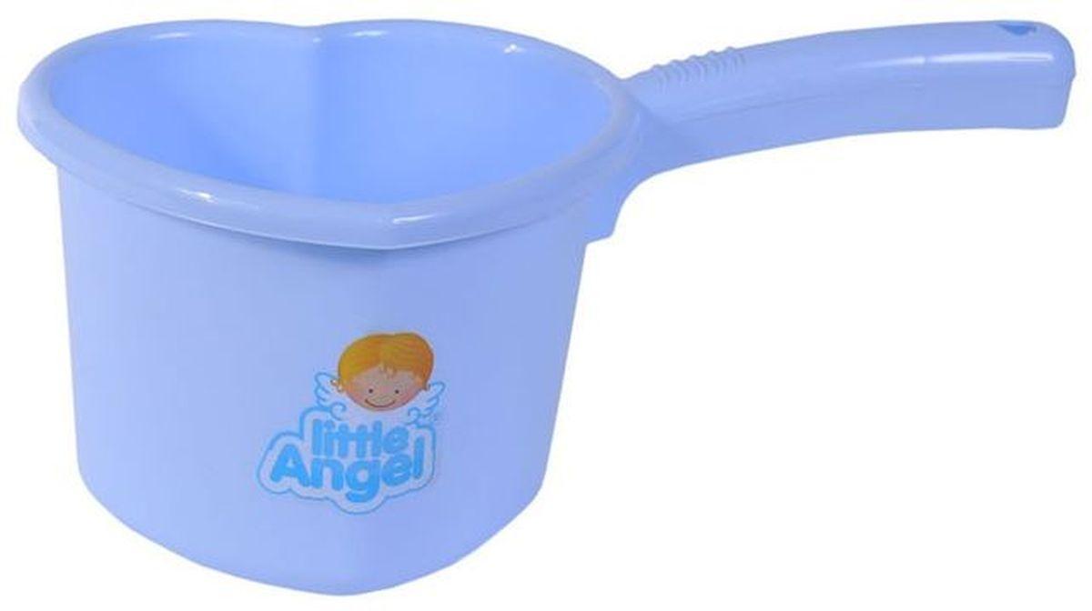 Little Angel Ковшик для детской ванночки цвет голубой little angel мусорная корзина круглая 7 л city cars little angel голубой