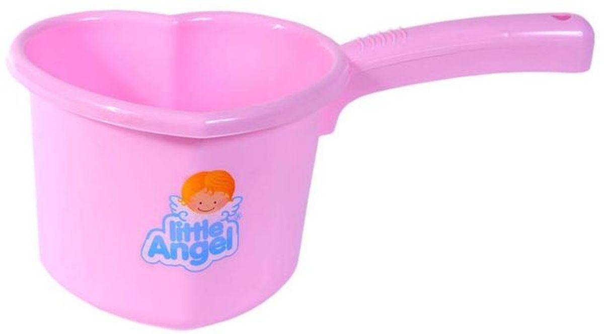 Little Angel Ковшик для детской ванночки цвет розовый