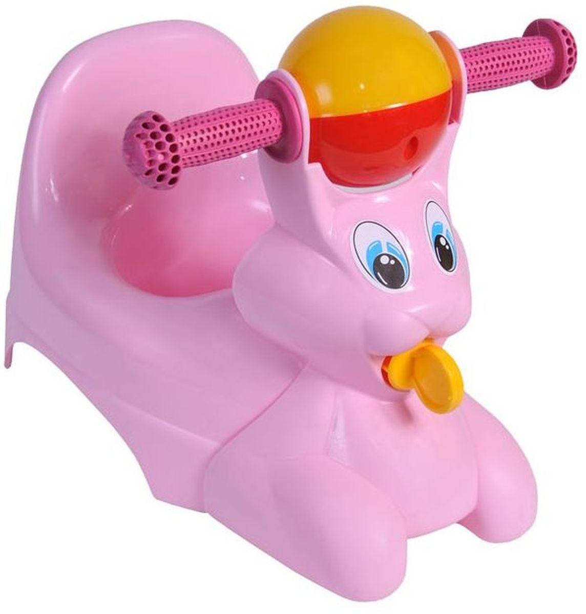 Фото Little Angel Горшок-игрушка Зайчик цвет розовый