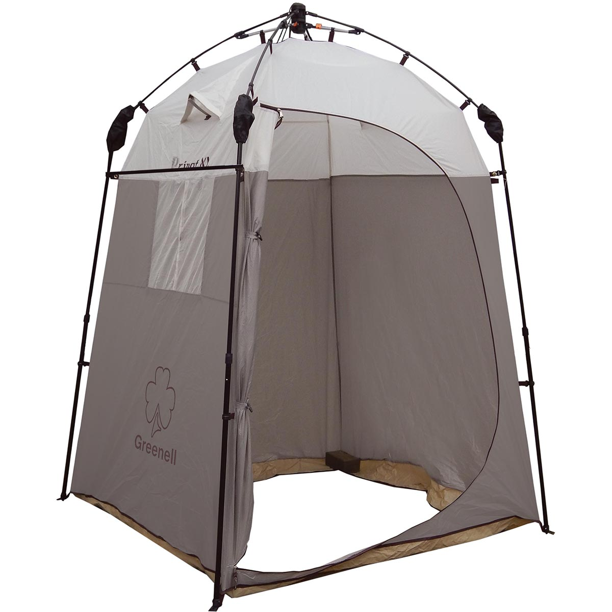 Тент-шатер Greenell Приват XL, с автоматическим каркасом, цвет: коричневый