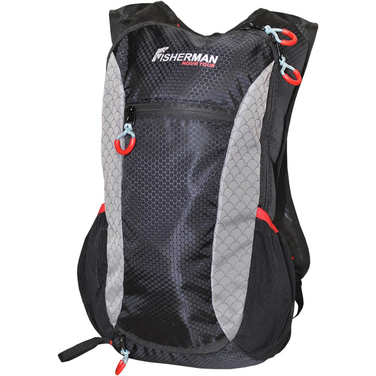 Рюкзак для рыбалки FisherMan Nova Tour Миноу PRO, цвет: черный, серый, 9 л коробка для уравнивания потенциалов hegel оп 100х100х50 ip55 куп2604 и