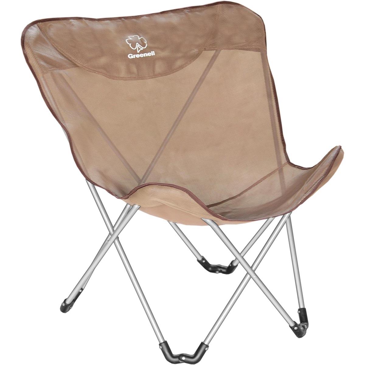 Кресло складное Greenell Баттерфляй FC-14, цвет: коричневый, 120 кг95796-232-00Складное кресло Greenell очень удобно для отдыха на природе, рыбалке, в походе.Кресло хорошо вентилируется.Оно компактно складывается и занимает мало места, а раскладывается как коляска-трость.Материал устойчив к ультафиолету и быстро сохнет.Стальной каркас кресла рассчитан на нагрузку до 120 кг.