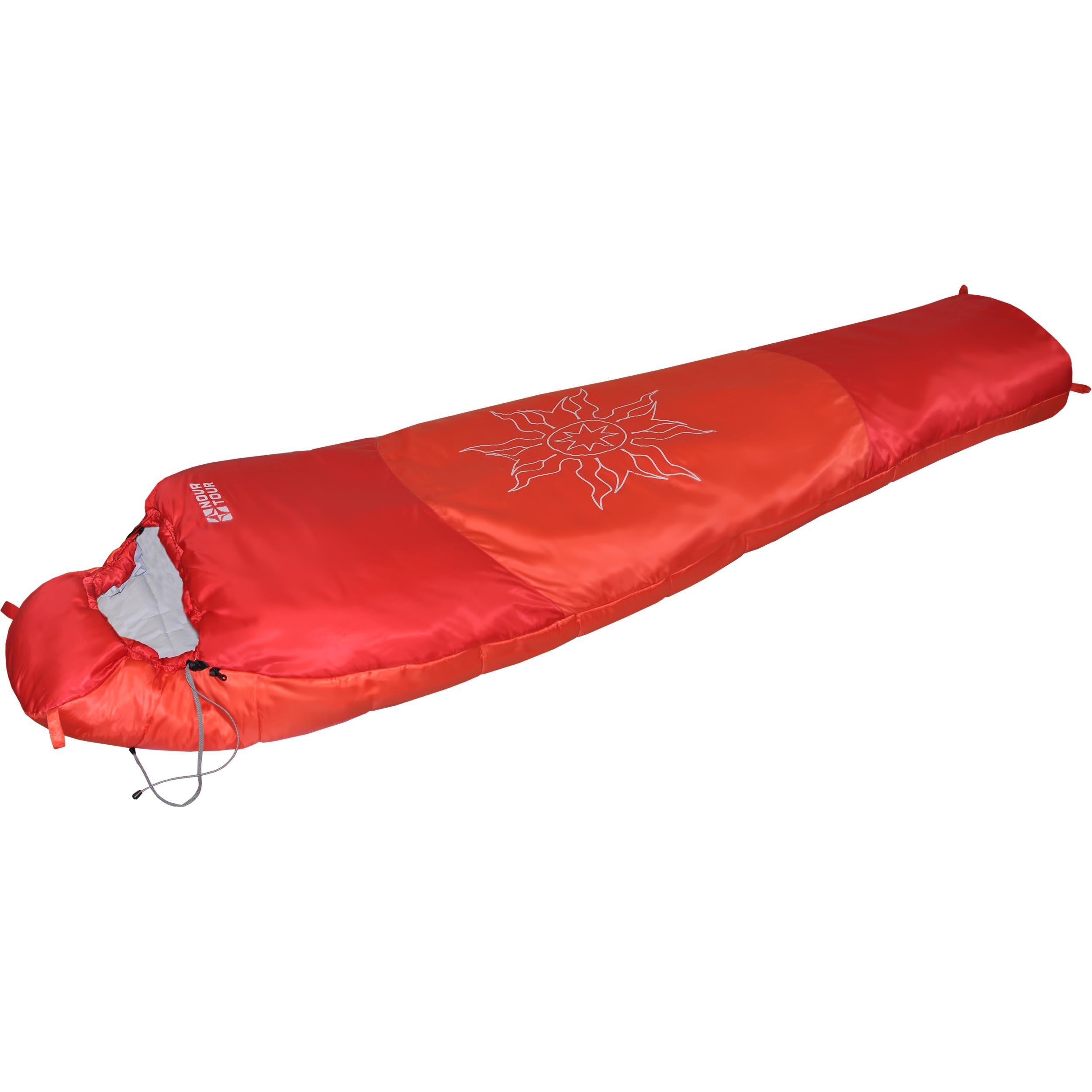 Спальный мешок Nova Tour Ямал -30 XL V2, цвет: красный, левосторонняя молния95420-001-LeftЗимний спальный мешок Nova Tour Ямал -30 XL V2 имеет конструкцию кокон. Он предназначен для использования при очень низких температурах. Утягивающийся капюшон и шейный воротник сохраняют тепло. Двухзамковая молния позволяет состегнуть два спальных мешка левого и правого исполнения в один двойной. Компрессионный мешок в комплекте.Длина мешка: 230 см.Что взять с собой в поход?. Статья OZON Гид