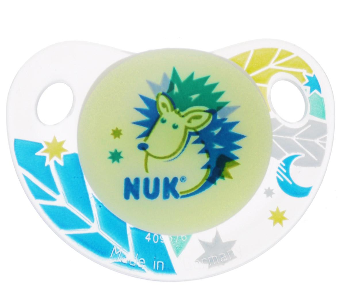 NUK Пустышка силиконовая ортодонтическая Ежик от 18 до 36 месяцев пустышка силиконовая nuk genius ортодонтическая от 18 до 36 месяцев цвет белый голубой