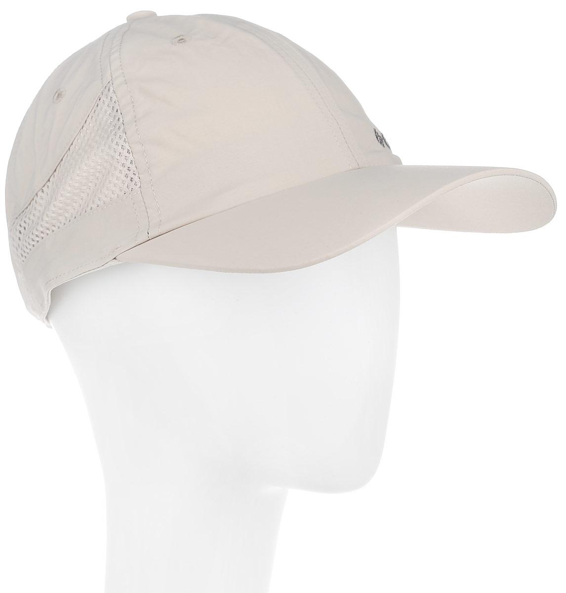 Бейсболка Columbia Tech Shade Hat, цвет: бежевый. 1539331_160. Размер универсальный1539331_160Стильная бейсболка Columbia Tech Shade Hat идеально подойдет для прогулок, занятия спортом и отдыха. Изделие выполнено из 100% нейлона, что обеспечивает быстрое высыхание в случае намокания.Вставки-сетки - как дополнительная вентиляция в жаркую погоду. Наличие в изделии технологии Omni-Shade UPF30 обеспечивает надежную защиту от вредного UV-излучения. Объем бейсболки регулируется с помощью защелки.Ничто не говорит о настоящем любителе путешествий больше, чем любимая кепка. Эта модель станет отличным аксессуаром и дополнит ваш повседневный образ.