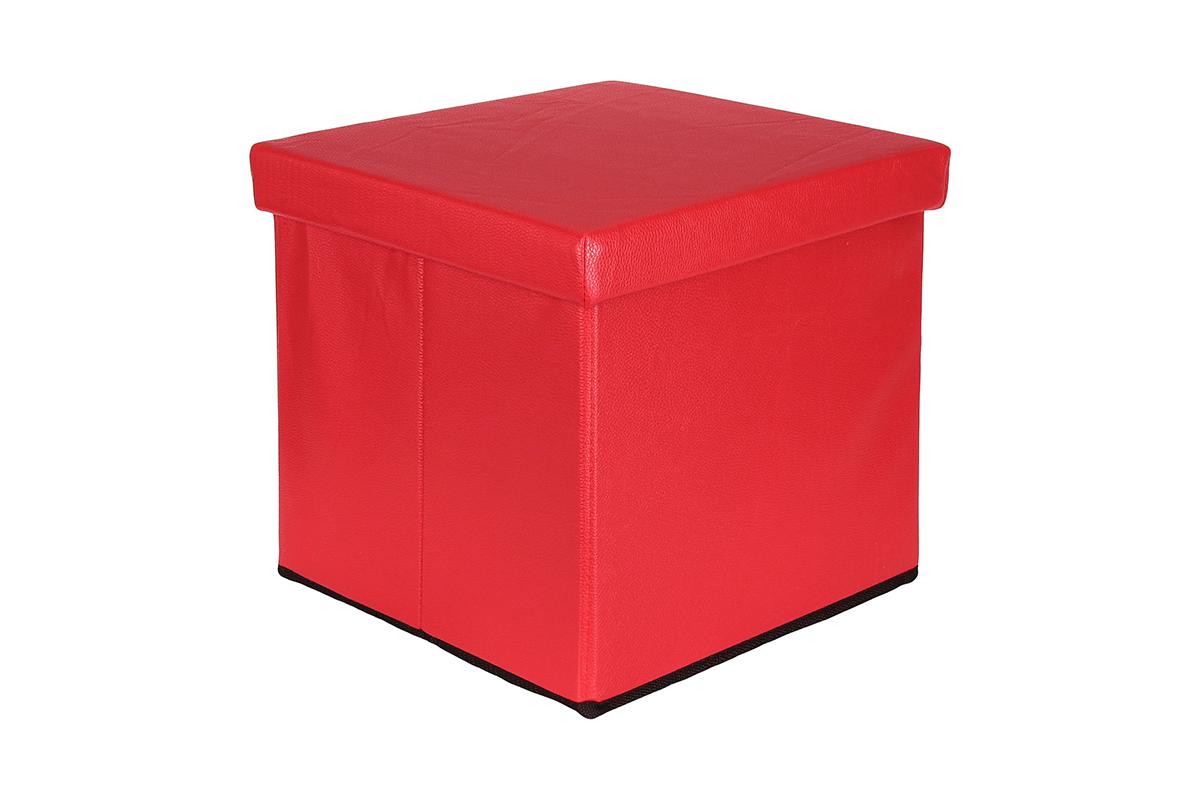 Пуф складной El Casa с ящиком для хранения, цвет: красный, 33 х 33 х 31 см840017Пуф понравится всем ценителям оригинальных вещей. Благодаря удобной конструкции складывается и раскладывается одним движением. В сложенном виде пуф занимает минимум места, его легко хранить и перевозитьИзготовлен из экологически чистого материала.