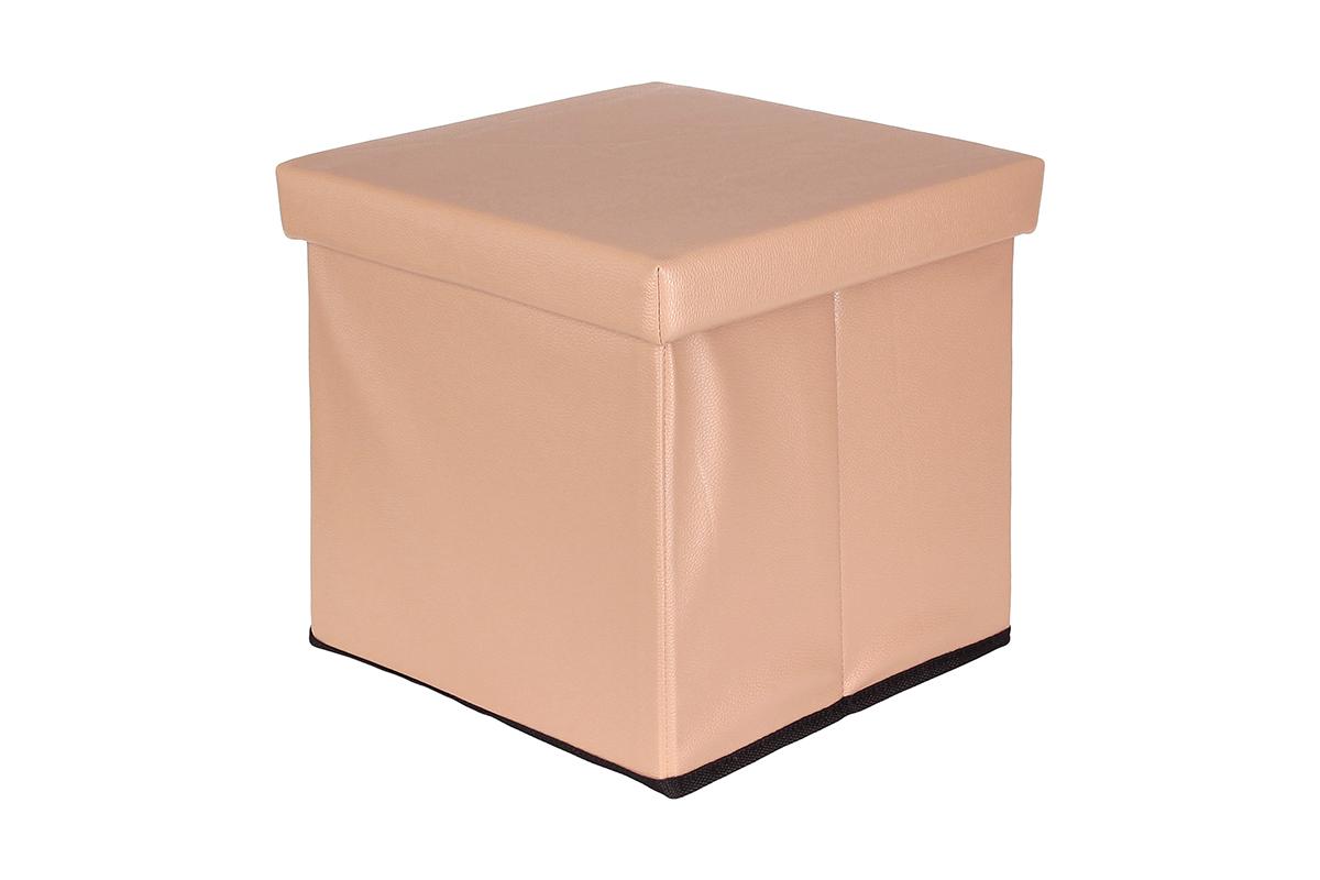 Пуф El Casa, складной, с ящиком для хранения, цвет: капучино, 33 х 33 х 31 см840018Складной пуф El Casa понравится всем ценителям оригинальных вещей. Изделие выполнено изМДФ и обтянуто экокожей. Благодаря удобной конструкции, складывается ираскладывается одним движением. В сложенном виде пуф занимает минимум места, его легкохранить и перевозить. Внутри пуфа имеется одно большое отделение для хранения бытовых предметов, аксессуаровдля обуви и многого другого. Стильный оригинальный пуф прекрасно впишется в интерьер прихожей, гостиной или спальни.
