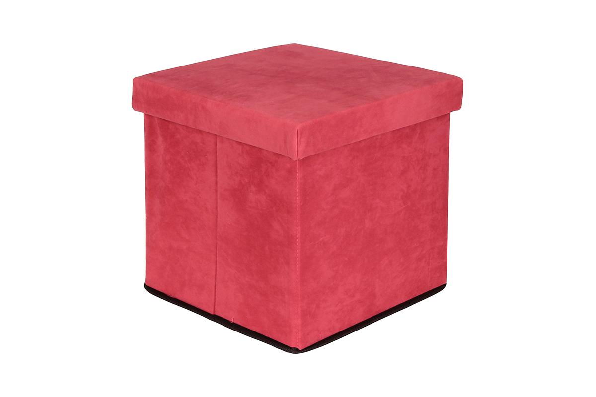 Пуф El Casa, складной, с ящиком для хранения, цвет: коралловый, 33 х 33 х 31 см840022Складной пуф El Casa понравится всем ценителям оригинальных вещей. Изделие выполнено изМДФ и обтянуто экокожей. Благодаря удобной конструкции, складывается ираскладывается одним движением. В сложенном виде пуф занимает минимум места, его легкохранить и перевозить. Внутри пуфа имеется одно большое отделение для хранения бытовых предметов, аксессуаровдля обуви и многого другого. Стильный оригинальный пуф прекрасно впишется в интерьер прихожей, гостиной или спальни.
