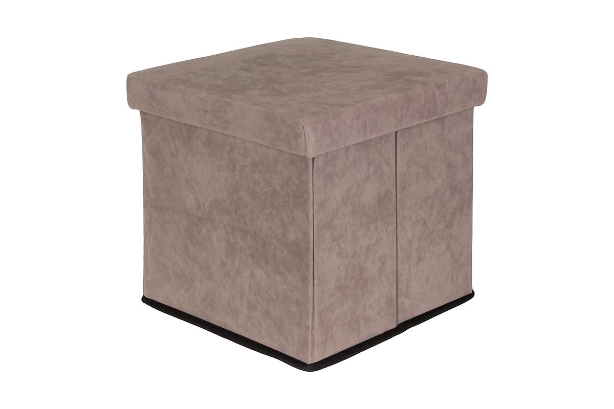 Пуф El Casa, складной, с ящиком для хранения, цвет: серый, 33 х 33 х 31 см840024Складной пуф El Casa понравится всем ценителям оригинальных вещей. Изделие выполнено изМДФ и обтянуто экокожей. Благодаря удобной конструкции, складывается ираскладывается одним движением. В сложенном виде пуф занимает минимум места, его легкохранить и перевозить. Внутри пуфа имеется одно большое отделение для хранения бытовых предметов, аксессуаровдля обуви и многого другого. Стильный оригинальный пуф прекрасно впишется в интерьер прихожей, гостиной или спальни.