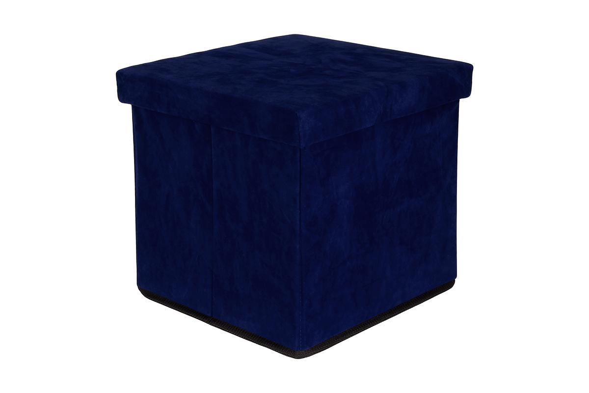 Пуф El Casa, складной, с ящиком для хранения, цвет: синий, 33 х 33 х 31 см840026Складной пуф El Casa понравится всем ценителям оригинальных вещей. Изделие выполнено изМДФ и обтянуто экокожей. Благодаря удобной конструкции, складывается ираскладывается одним движением. В сложенном виде пуф занимает минимум места, его легкохранить и перевозить. Внутри пуфа имеется одно большое отделение для хранения бытовых предметов, аксессуаровдля обуви и многого другого. Стильный оригинальный пуф прекрасно впишется в интерьер прихожей, гостиной или спальни.