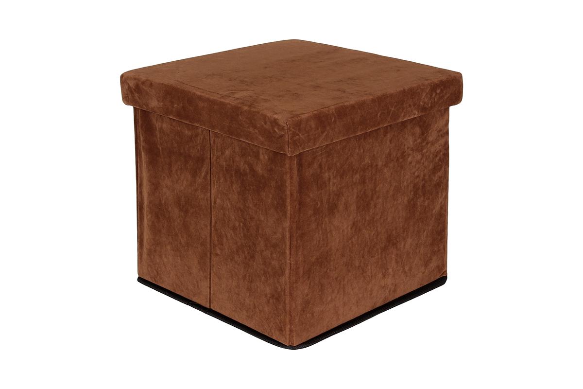 Пуф El Casa, складной, с ящиком для хранения, цвет: коричневый, 33 х 33 х 31 см840027Складной пуф El Casa понравится всем ценителям оригинальных вещей. Изделие выполнено изМДФ и обтянуто экокожей. Благодаря удобной конструкции, складывается ираскладывается одним движением. В сложенном виде пуф занимает минимум места, его легкохранить и перевозить. Внутри пуфа имеется одно большое отделение для хранения бытовых предметов, аксессуаровдля обуви и многого другого. Стильный оригинальный пуф прекрасно впишется в интерьер прихожей, гостиной или спальни.