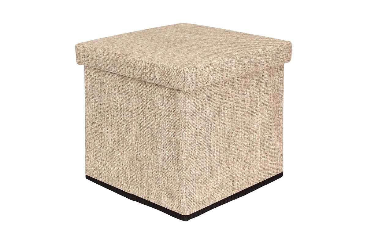 Пуф El Casa, складной, с ящиком для хранения, 33 х 33 х 31 см корзинки el casa сумочка интерьерная для хранения натюрморт с фиалками