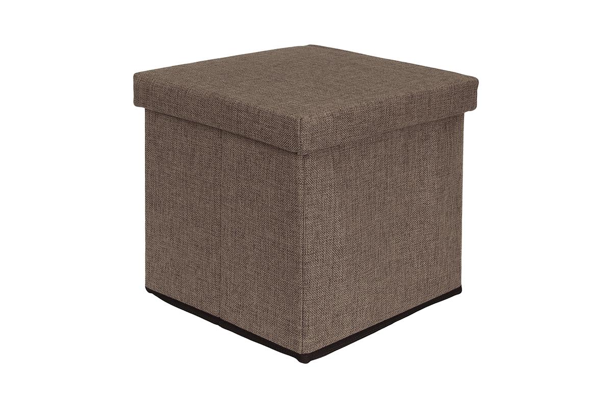 Пуф El Casa, складной, с ящиком для хранения, цвет: коричневый, 33 х 33 х 31 см. 840042840042Складной пуф El Casa понравится всем ценителям оригинальных вещей. Изделие выполнено изМДФ и обтянуто льном. Благодаря удобной конструкции, складывается ираскладывается одним движением. В сложенном виде пуф занимает минимум места, его легкохранить и перевозить. Внутри пуфа имеется одно большое отделение для хранения бытовых предметов, аксессуаровдля обуви и многого другого. Стильный оригинальный пуф прекрасно впишется в интерьер прихожей, гостиной или спальни.