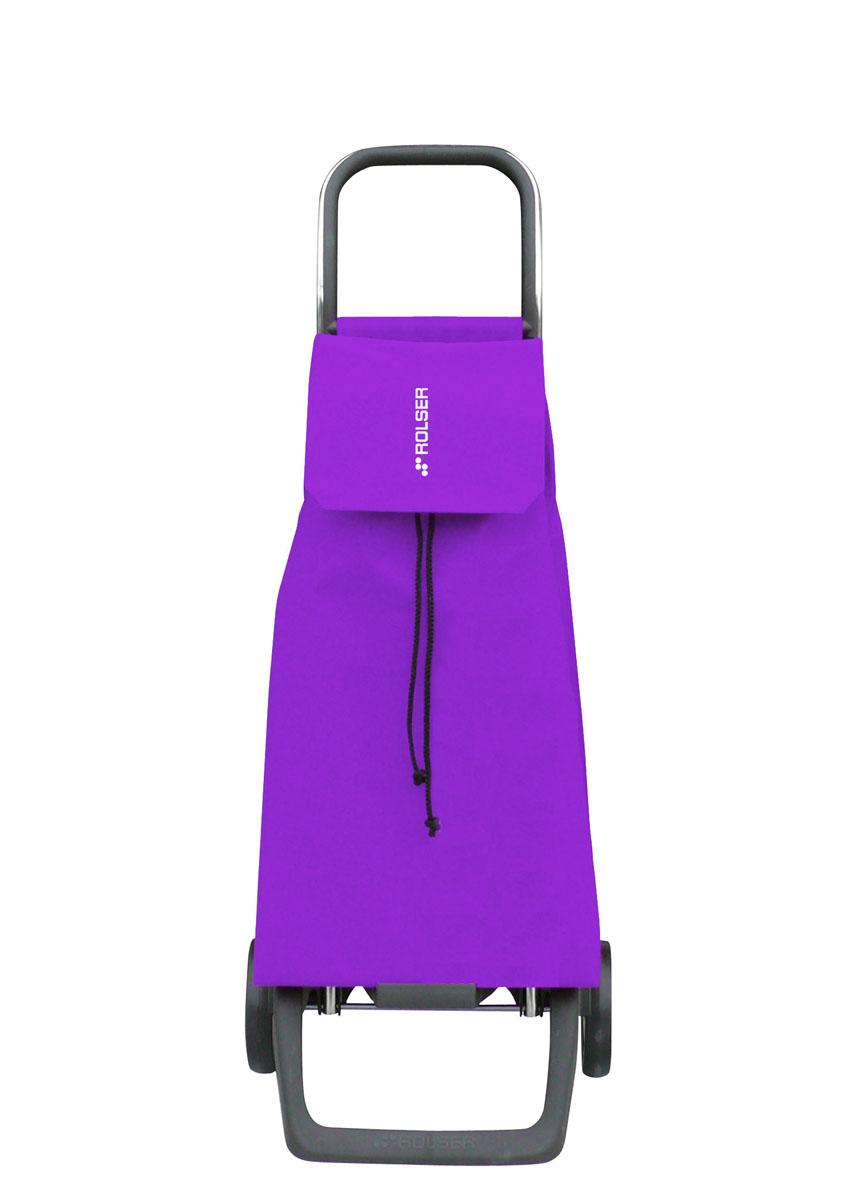 Сумка хозяйственная Rolser, на колесиках, цвет: фиолетовый, 45 лJET001 malvaАлюминиевая тележка для покупок Rolser с 2 колесами. Колеса выполнены из резины EVA. Эргономичная ручка, складываемая передняя подставка. Сумка имеет форму рюкзака, ткань полиэстер, влагоустойчивая, имеет удобное закрытие сумки и легко крепиться на раме. Тележка не складывается. Объем: 45 л. Диаметр колес: 13,2 см. Рекомендованная нагрузка: 25 кг.Чистка ручная или химчистка.