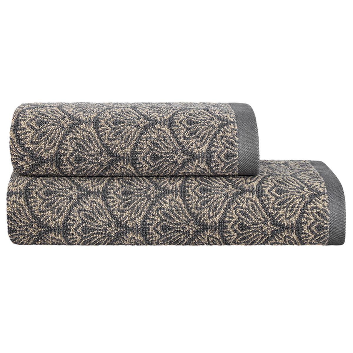 """Набор Togas """"Арт-деко"""", выполненный из 60% хлопка и 40% модела, невероятно гармонично  сочетает в себе лучшие качества современного махрового текстиля. Набор полотенец идеально  заботится о вашей коже, особенно после душа, когда вы расслаблены и особо уязвимы.  Деликатный дизайн полотенец Togas «Арт-деко» - воплощение изысканной простоты, где на  первый план выходит качество материала. Невероятно мягкое волокно модал, превосходящее по  своим свойствам даже хлопок, позволяет улучшить впитывающие качества полотенца и делает  его удивительно мягким. Модал - это 100% натуральное, экологически чистое целлюлозное  волокно. Оно производится без применения каких-либо химических примесей, поэтому абсолютно  гипоаллергенно.   Набор полотенец Togas """"Арт-деко"""", обладающий идеальными качествами, будет поднимать вам  настроение. Размер полотенца: 50 х 100 см; 70 х 140 см."""