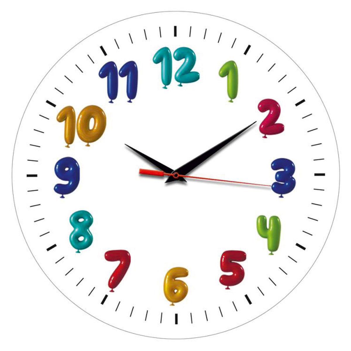 Часы настенные Miolla ДетиСК011 2443Оригинальные настенные часы круглой формы Miolla Дети выполнены из закаленного стекла. Часы имеют три стрелки - часовую, минутную и секундную. Необычное дизайнерское решение и качество исполнения придутся по вкусу каждому. Оформите свой дом таким интерьерным аксессуаром или преподнесите его в качестве презента друзьям, и они оценят ваш оригинальный вкус и неординарность подарка.Часы работают от 1 батарейки типа АА напряжением 1,5 В. Диаметр часов: 28 см.