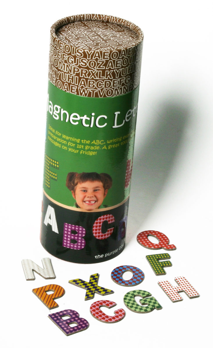 The Purple Cow Магнитная игра Магнитные буквы английские шпаргалки для мамы обучающая игра английские стихи