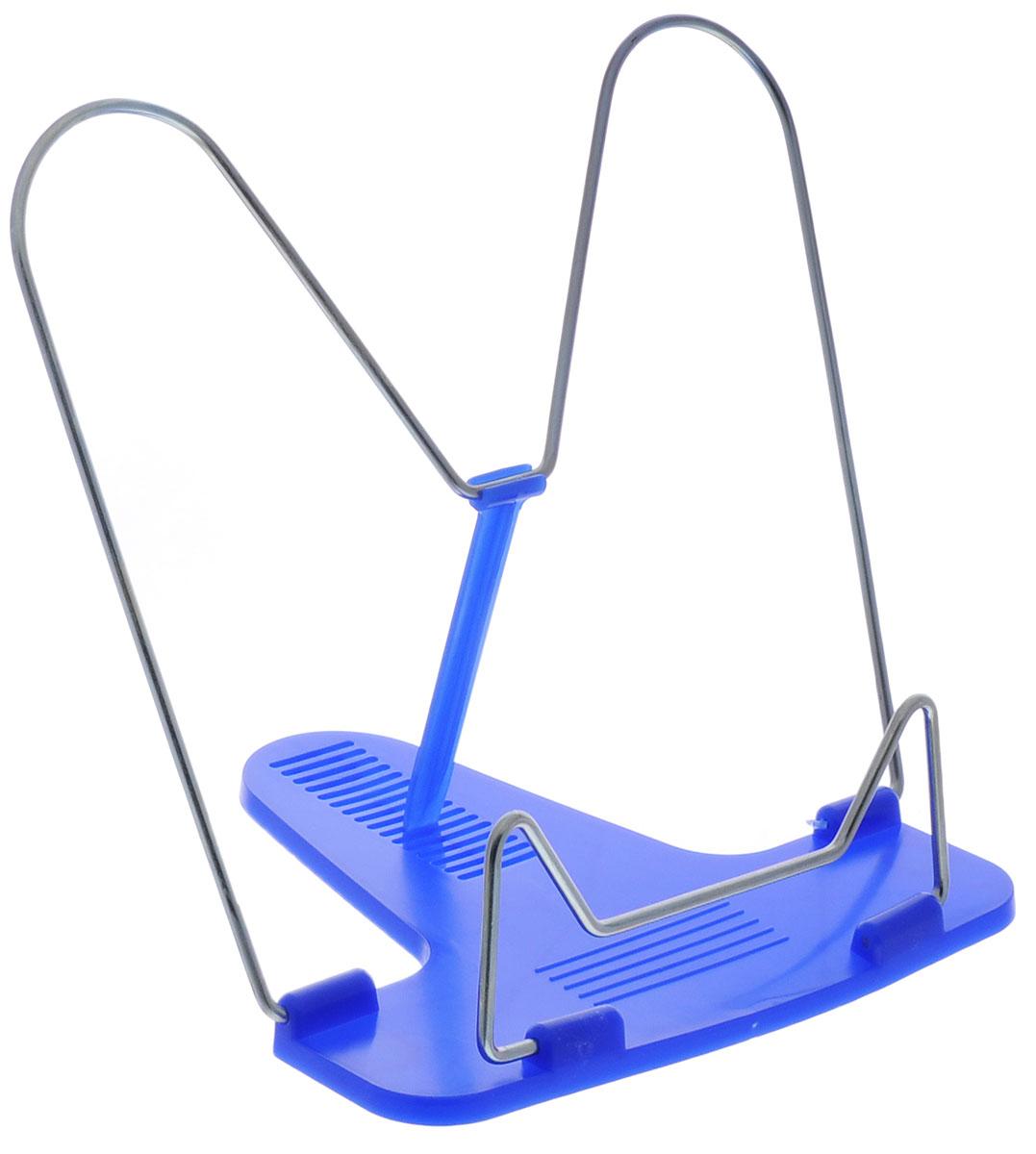 Action! Подставка для книг Fancy цвет синийFBH01_синийКлассическая металлическая подставка для книг Action! Fancy станет незаменимым аксессуаром на столе у школьника или студента.Подставка оснащена упором, благодаря чему она имеет несколько углов наклона.