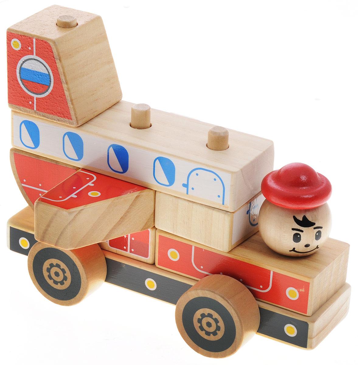 Мир деревянных игрушек Конструктор Самолет, Конструкторы  - купить со скидкой