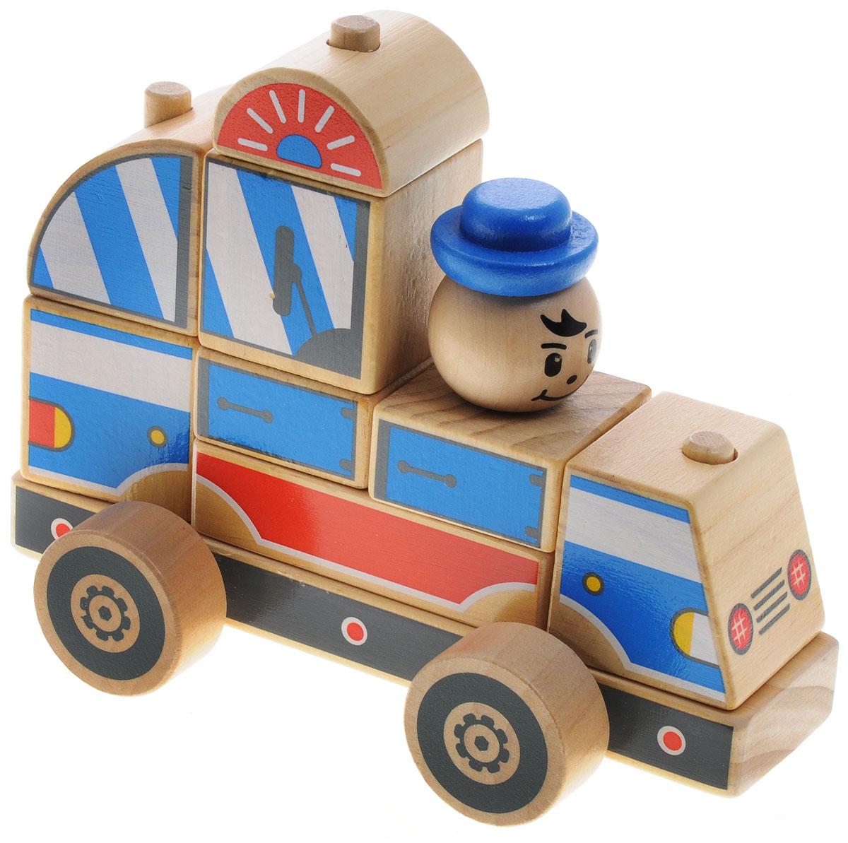 Мир деревянных игрушек Конструктор Полицейская машина, Конструкторы  - купить со скидкой