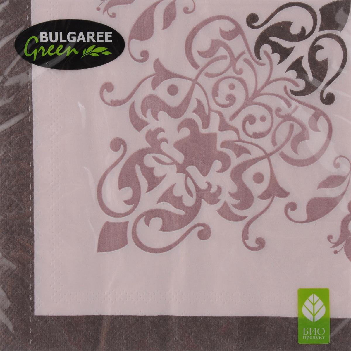 Салфетки бумажные Bulgaree Green Классика. Перфетто, трехслойные, 33 х 33 см, 20 шт1002238Декоративные трехслойные салфетки Bulgaree Green Классика. Перфеттовыполнены из 100%целлюлозы европейского качества и оформлены ярким рисунком. Изделиястанут отличнымдополнением любого праздничного стола. Они отличаются необычноймягкостью,прочностью и оригинальностью.Размер салфеток в развернутом виде: 33 х 33 см.
