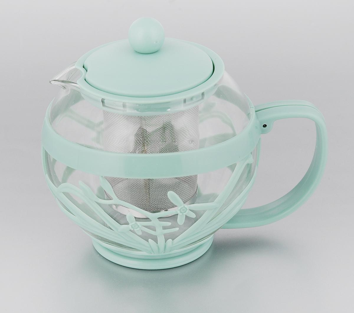 Чайник заварочный Menu Мелисса, с фильтром, цвет: прозрачный, серо-зеленый , 750 млMLS-75_серо-зеленыйЧайник Menu Мелисса изготовлен из прочногостекла ипластика. Он прекрасно подойдет для завариваниячая итравяных напитков. Классический стиль иоптимальный объемделают его удобным и оригинальным аксессуаром.Изделиеимеет удлиненный металлический фильтр, которыйобеспечивает высокое качество фильтрации напиткаипозволяет заварить чай даже при небольшомуровне воды.Ручка чайника не нагревается и обеспечиваетбезопасностьиспользования.Нельзя мыть в посудомоечной машине.Диаметр чайника (по верхнему краю): 8 см. Высота чайника (без учета крышки): 11 см. Размер фильтра: 6 х 6 х 7,2 см.