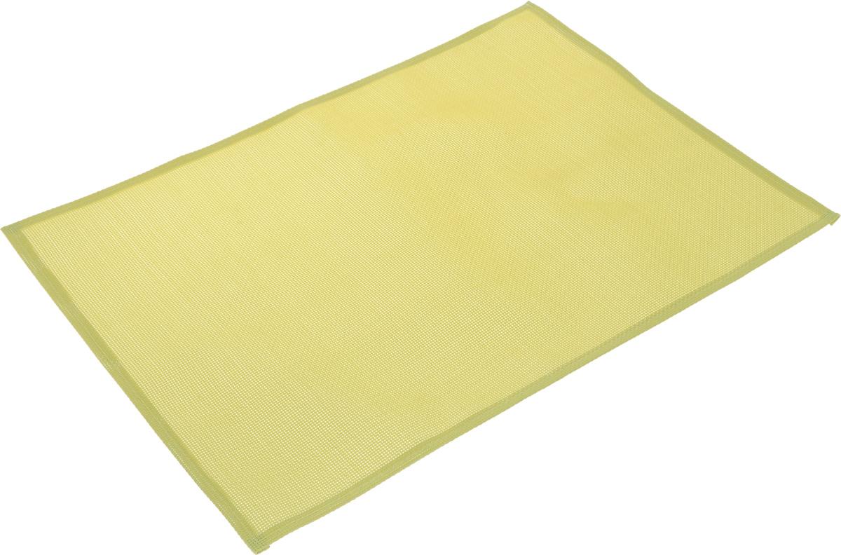 Салфетка сервировочная Tescoma Flair Lite, цвет: лайм, 45 х 32 см662040Элегантная салфетка Tescoma Flair Lite, изготовленная из прочного искусственного текстиля, предназначена для сервировки стола. Она служит защитой от царапин и различных следов, а также используется в качестве подставки под горячее. После использования изделие достаточно протереть чистой влажной тканью или промыть под струей воды и высушить.Не мыть в посудомоечной машине, не сушить на батарее.Размер салфетки: 45 х 32 см.