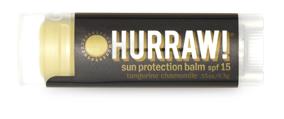 Hurraw! Бальзам для губ Sun Protection Balm SPF 15 (SPF 15 Sun Balm), 4,3 г005182Бальзамы для губ Hurraw! производятся в США на небольшом домашнем производстве.Идея создателей бренда заключалась в том, чтобы разработать поистине идеальный бальзам для губ: натуральный, вегетарианский, произведенный из органических ингредиентов высочайшего качества и не содержащий вредных веществ и искусственных компонентов.Все бальзамы Hurraw! производятся из чистого органического масла, которое добывается путем холодного отжима, что позволяет всем веществам сохранять свои полезные свойства.Помимо этого, приятно знать, что продукция марки Hurraw! не содержит ингредиентов животного происхождения и никогда не тестируется на животных.А еще бальзамы разливаются по флакончикам вручную!