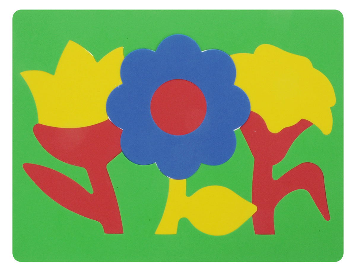 Фантазер Пазл для малышей Цветы цвет основы зеленый