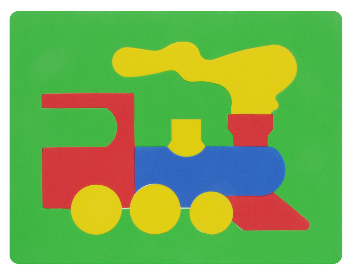 Фантазер Пазл для малышей Паровозик цвет основы зеленый бомик пазл для малышей цифры цвет основы зеленый