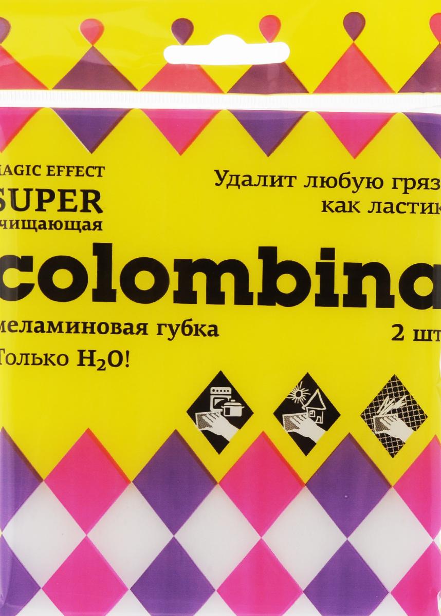 Губка Colombina, меламиновая, 2 шт10030Губки Colombina выполнены из меламина. Они легко удаляют следы маркера, чернил, карандашей со стен и других твердых поверхностей, а также жир, известковый налет, въевшуюся грязь с минимальными усилиями без вреда для здоровья и применения химических средств. Руководство по применению: 1. Часть губки можно отрезать. 2. Намочить губку водой, слегка отжать. 3. Протрите загрязненное место, губка работает как канцелярский ластик, захватывает грязь благодаря своей особо структуре и стирает ее. 4. Для работы используйте чистую поверхность губки, при необходимости промойте ее водой. Внимание! При работе на окрашенных, блестящих или лакированных поверхностях предварительно проверьте губку на незаметной части поверхности. Не применяйте губки для чистки поверхности, окрашенной водоэмульсионной краской. Не использовать горячую воду и средства, содержащие хлор. Размер губки: 10,5 х 6 х 2,5 см.
