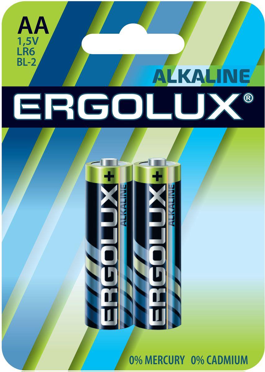 Батарейка алкалиновая Ergolux, тип LR6, 1,5 В, 2 шт11747Щелочные (алкалиновые) батарейки Ergolux оптимально подходят для повседневного питания множества современных бытовых приборов: электронных игрушек, фонарей, беспроводной компьютерной периферии и многого другого. Не содержат кадмия и ртути. Батарейки созданы для устройств со средним и высоким потреблением энергии. Работают в 10 раз дольше, чем обычные солевые элементы питания. Алкалиновые батарейки Ergolux - высокое качество и максимальная производительность.В комплекте 2 штуки.