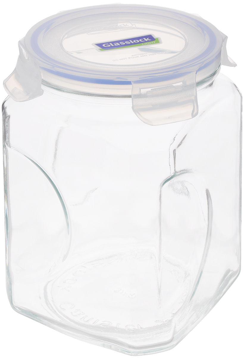 Контейнер для сыпучих продуктов Glasslock, 2 лIP-592 (IG-664)Контейнер Glasslock изготовлен из высококачественного закаленного ударопрочного стекла. Герметичная крышка, выполненная из пластика и снабженная уплотнительной резинкой, надежно закрывается с помощью четырех защелок. Изделие подходит для специй, чая, кофе, круп, сахара и соли и многого другого. Такой контейнер стильно дополнит интерьер кухни и поможет эффективно организовать пространство.Подходит для мытья в посудомоечной машине, хранения в холодильных и морозильных камерах.Диаметр контейнера (по верхнему краю): 11,5 см.Размер контейнера (с учетом крышки): 12 х 12 х 19 см.