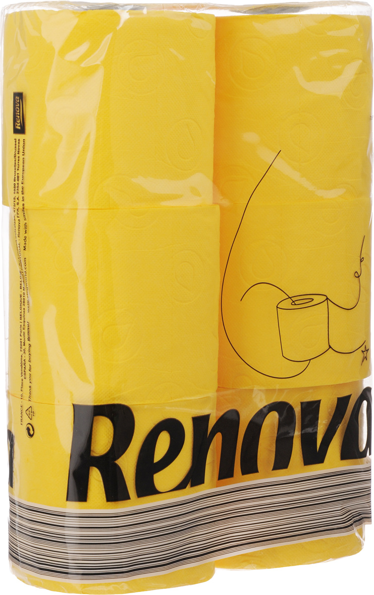 Туалетная бумага Renova Color, трехслойная, ароматизированная, цвет: желтый, 6 рулонов13475Туалетная бумага Renova Color изготовлена по новейшей технологии из 100% ароматизированной целлюлозы с лосьоном, благодаря чему она имеет тонкий аромат, очень мягкая, нежная, но в тоже время прочная.Перфорация надежно скрепляет слои бумаги.Туалетная бумага Renova Color сочетает в себе простоту и оригинальность.Состав: 100% ароматизированная целлюлоза.Количество листов: 140 шт. Количество слоев: 3. Размер листа: 11,5 х 9,7 см. Количество рулонов: 6 шт.