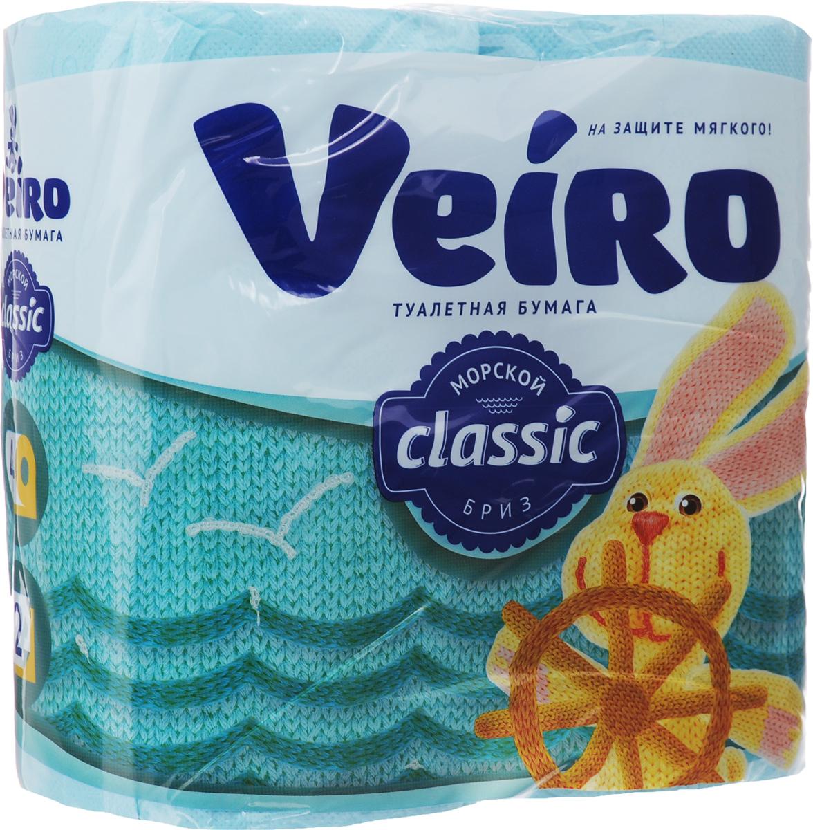 Бумага туалетная Veiro Classic. Морской бриз, ароматизированная, двухслойная, 4 рулона5C24гАроматизированная туалетная бумага Veiro Classic. Морской бриз, выполненная из натуральной целлюлозы и обладает приятным ароматом свежести. Двухслойная туалетная бумага мягкая, нежная, но в тоже время прочная, с отрывом по линии перфорации. Листы имеют рисунок с тиснением.Длина рулона: 17,5 м. Количество слоев: 2.Размер листа: 12,5 х 9,5 см. Состав: 100% целлюлоза.