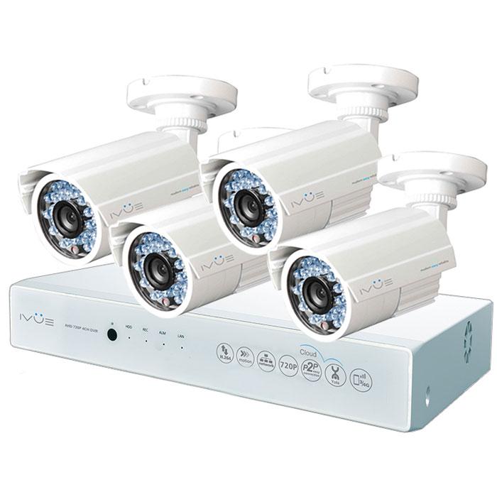 iVue D5004 AHC-B4 Дача 4+4 комплект видеонаблюдения видеонаблюдение ivue ahd 1 mpx дача 4 4 ivue d5004 ahc b4