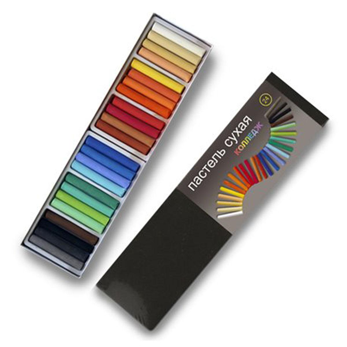 Пастель Черная речка, сухая, 24 цветаК-1181-024Высококачественная сухая пастель Черная речка предназначена для школьников, студентов.Идеально подходит для живописных и графических работ (предпочтительно использование на шероховатых, фактурных поверхностях), может использоваться в смешанных техниках, в декупаже, на модельных массах.Рисунок пастелью не выгорает, не темнеет, не тускнеет, не трескается со временем, но требует защиты от прикосновений - с помощью лака-фиксатива и стекла. В комплекте 24 цвета.