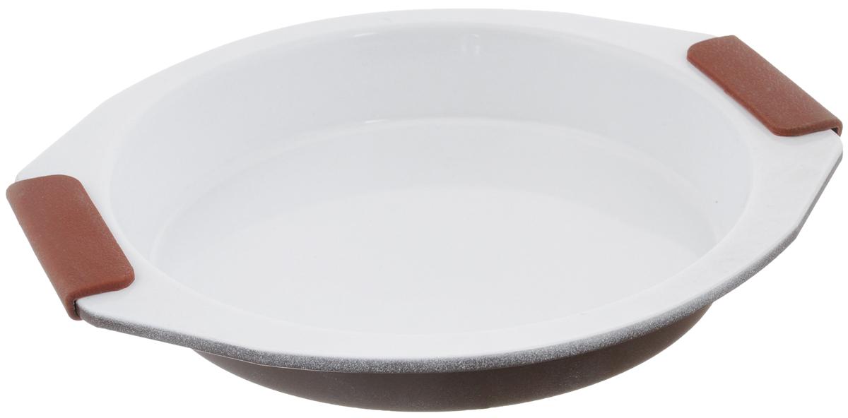 Форма для выпечки Guterwahl, с керамическим покрытием, круглая, диаметр 26,5 смEC-RS65-CERФорма для выпечки Guterwahl изготовлена изуглеродистой стали с керамическим покрытием,благодаря чему пища не пригорает и неприлипает к стенкам посуды. Кроме того, готовитьможно с добавлением минимального количествамасла и жиров. Керамическоепокрытие также обеспечивает легкость мытья.Форма идеально подходит для выпечки кексов,пирогов. Изделие имеет литые ручки ссиликоновыми вставками, чтосущественно облегчает процесс готовки. Не рекомендуется мыть в посудомоечной машине.Внутренний диаметр формы: 23 см.Внешний размер формы (с учетом ручек): 29,5 х 26,5см.Высота стенок формы: 4 см.